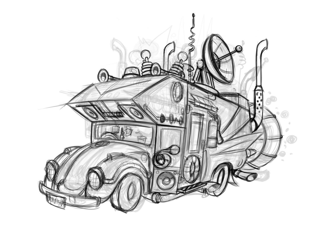 Раскраски машины зомби апокалипсис