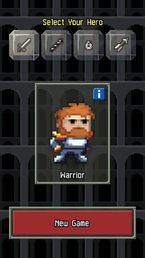 Mobile Applications - Pixel Dungeon (Android) - Interesting jogging into the underground in the style of Pixel Art