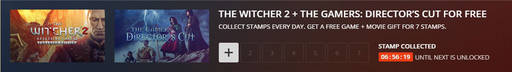 Цифровая дистрибуция - THE WITCHER 2 + THE GAMERS: DIRECTOR'S CUT FOR FREE