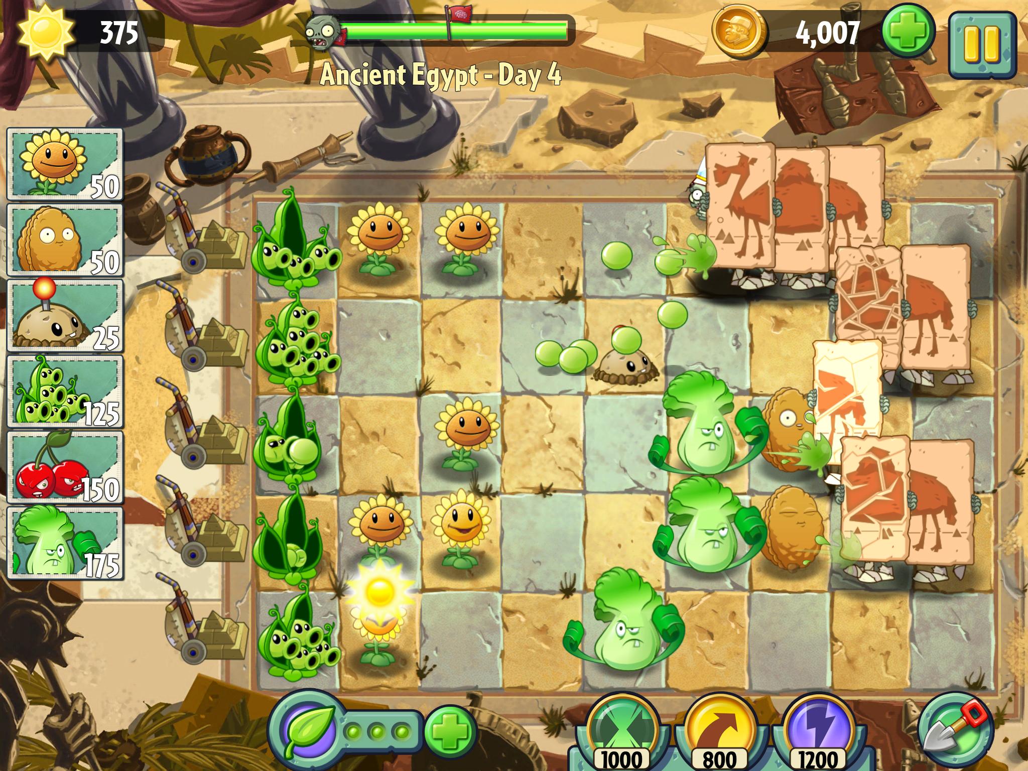 Прохождение plants zombies 2