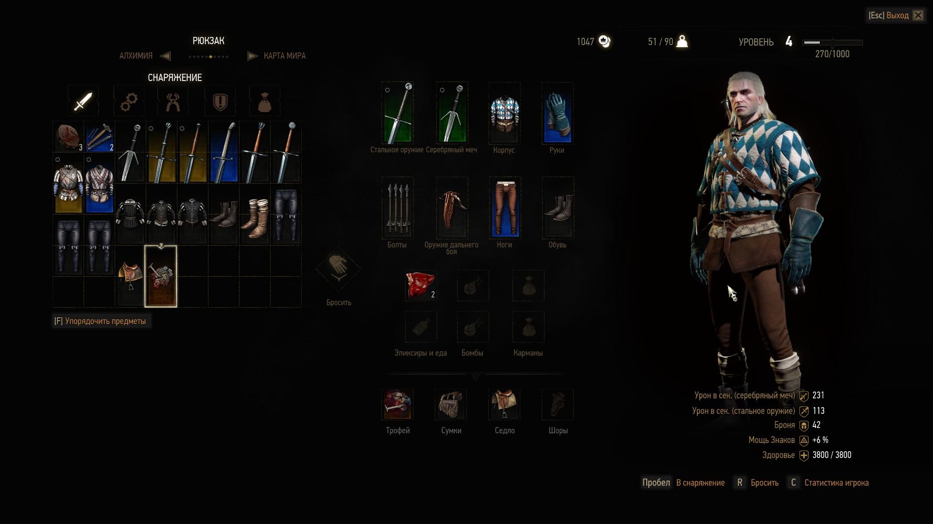 Продавать вещи ведьмаке 3