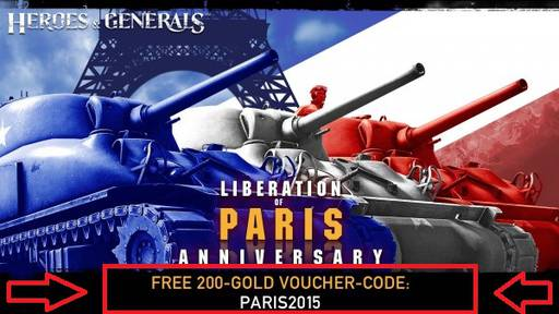 Heroes & Generals - Heroes & Generals 200 gold steam free (Liberation of Paris)