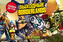 Cкидки до 75% на серию Borderlands! GTA V за 899 руб.