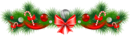 Transparent_christmas_pine_garland_with_red_bow_png_clipart
