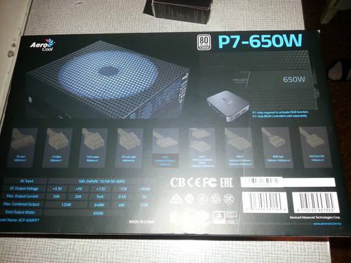Игровое железо - Блок питания AeroCool P7-650W Platinum