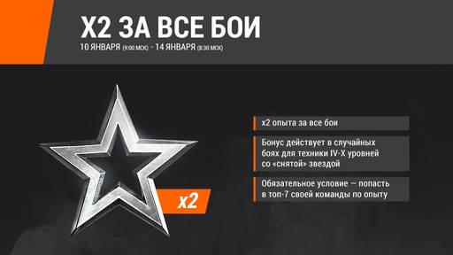 World of Tanks - х2 за все бои с 10 по 14 января!