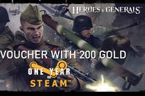 Heroes & Generals 200 gold steam free