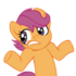 Shrugpony_scootaloo__face_2_by_moongazeponies-d3cvk9e